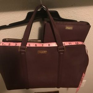 Maroon Kate Spade Bag with matching wallet